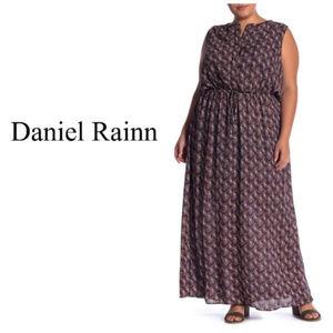 DR2 by Daniel Rainn Split Neck Maxi Dress Sz 2X